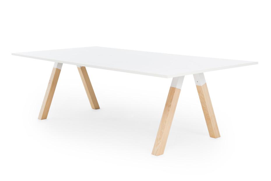 Frankie Konferenztisch mit Holzbasis