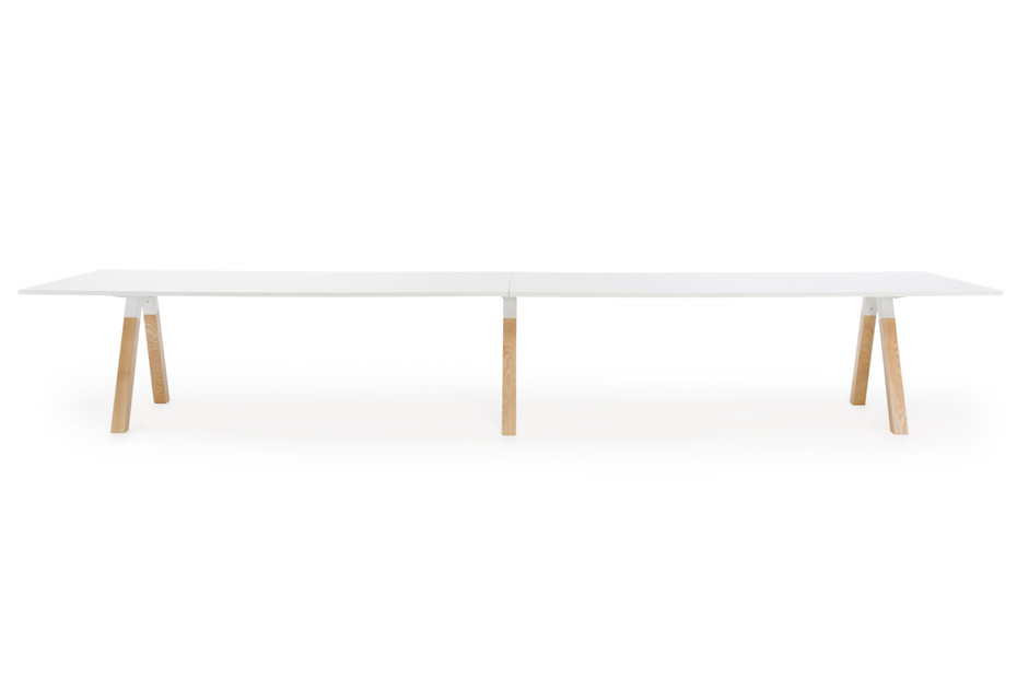 Frankie conference table wooden base