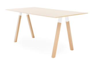 Frankie standing table with wooden base   by  Martela