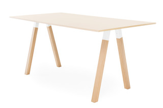 Frankie standing table wooden base  by  Martela