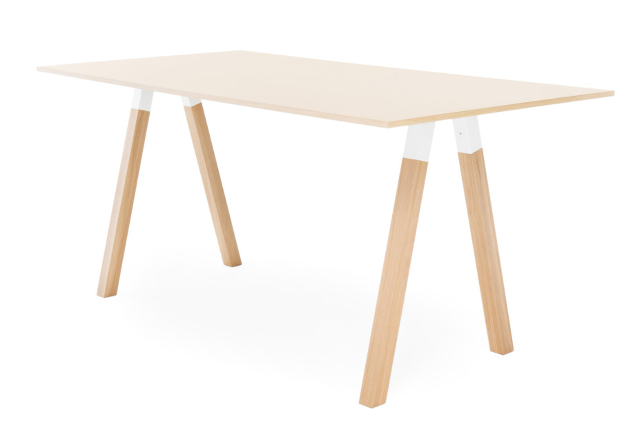 Frankie standing table with wooden base