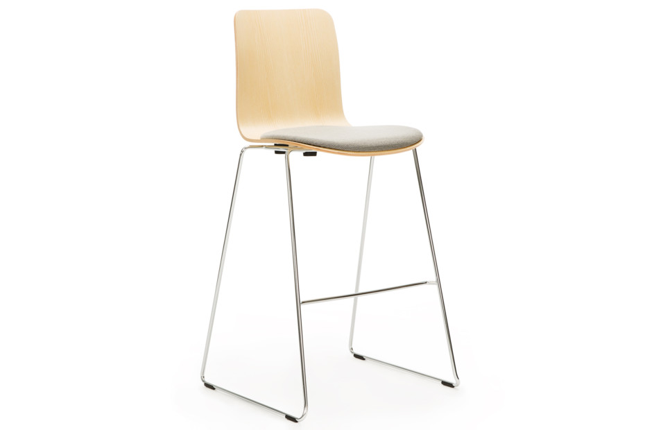 Sola bar stool with sled base, stackable