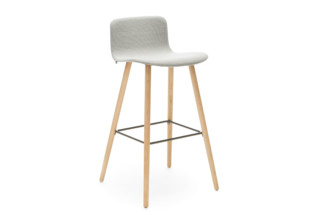 Sola barstool with wooden base  by  Martela