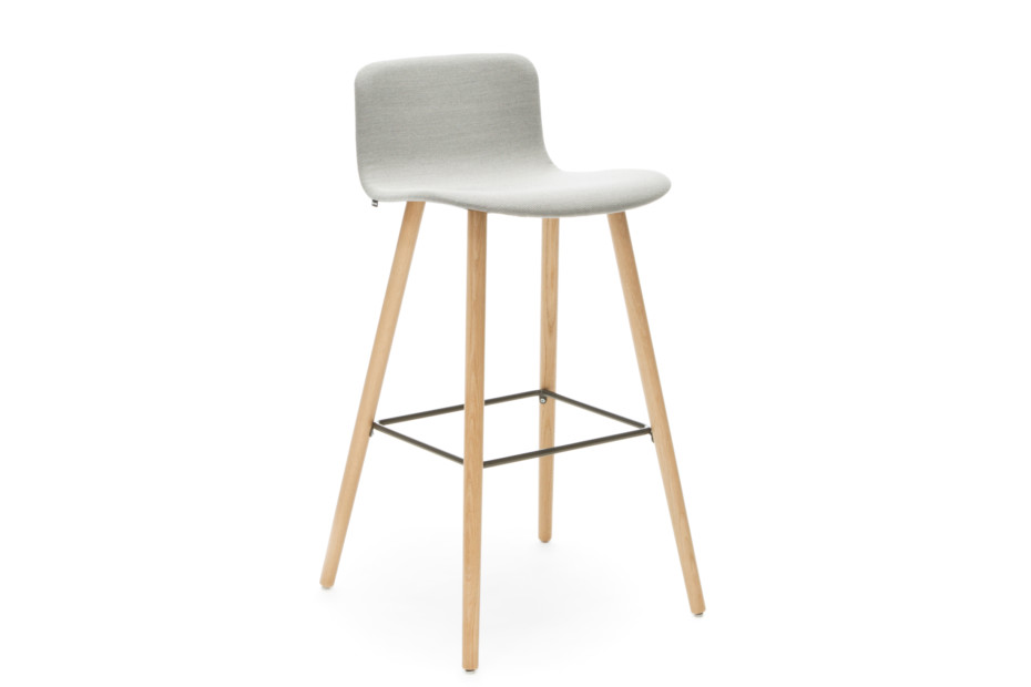 Sola barstool with wooden base