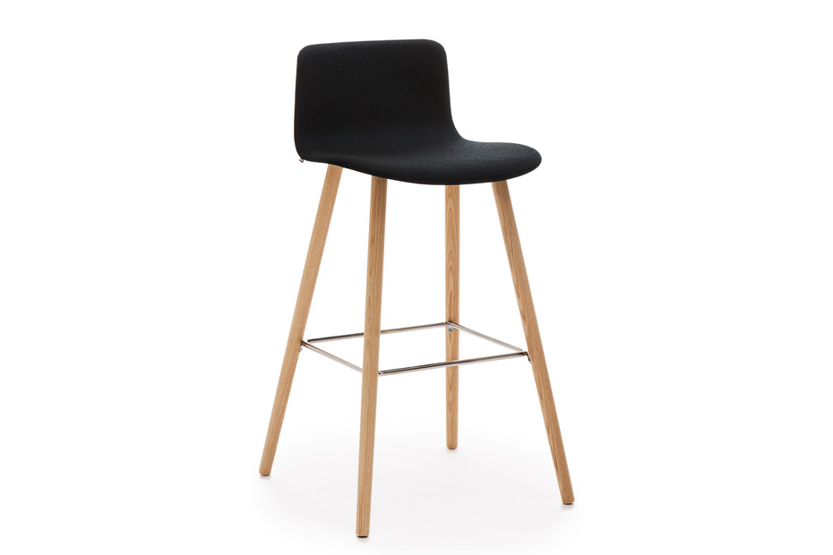 Sola bar stool with wooden base