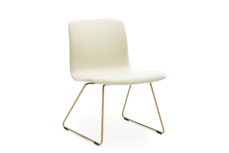 Sola lounge chair with sled base