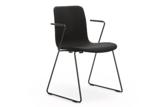 Sola skid-base with armrests  by  Martela