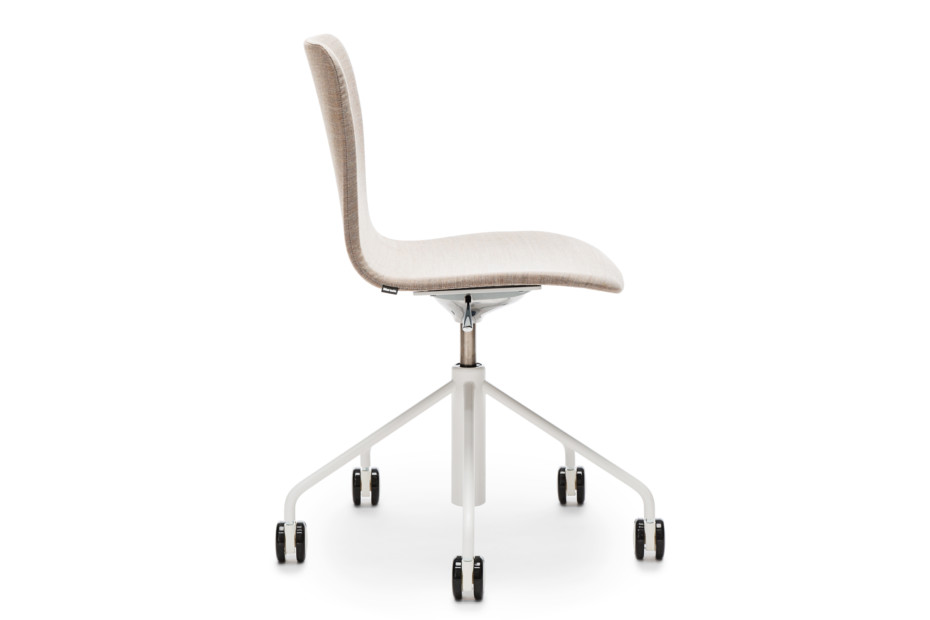 Sola chair with castors and height adjustment