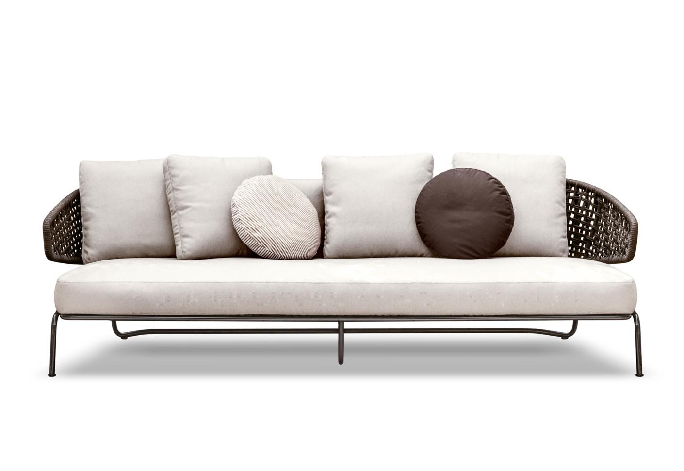 aston cord outdoor sofa von minotti stylepark. Black Bedroom Furniture Sets. Home Design Ideas