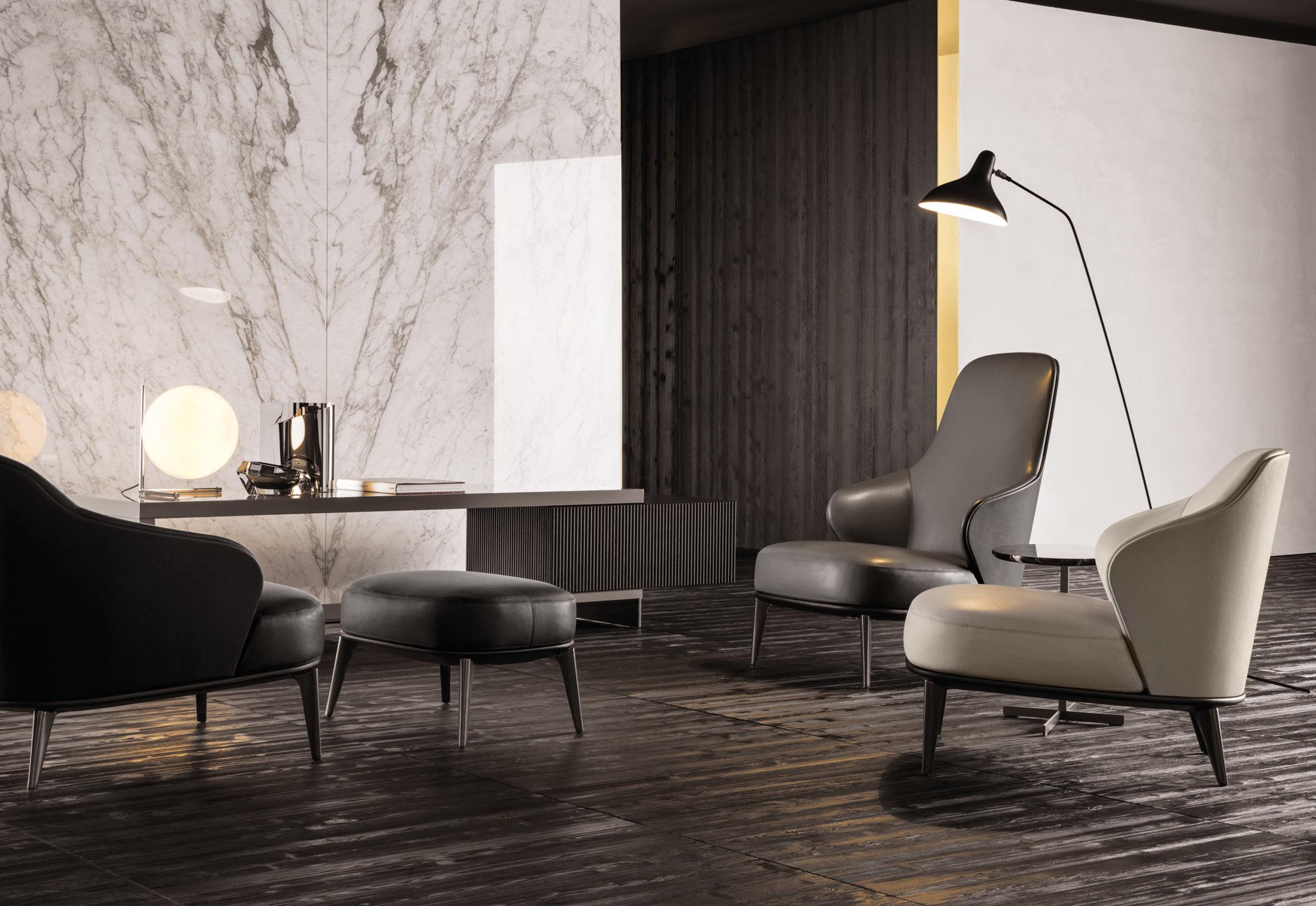 leslie sessel von minotti stylepark. Black Bedroom Furniture Sets. Home Design Ideas