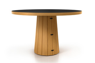 Container table 140 round wood  by  Moooi