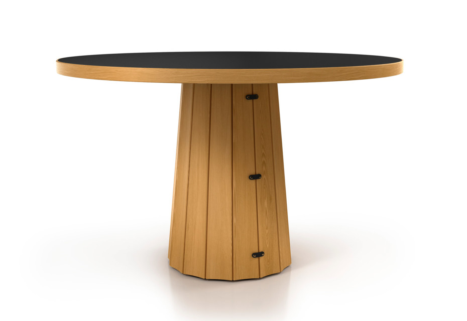 Container table 140 round wood