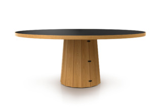 Container table 160 round wood  by  Moooi