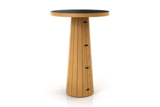 Container table 70 round wood  by  Moooi