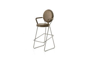 Double Zero barstool with armrests  by  Moroso