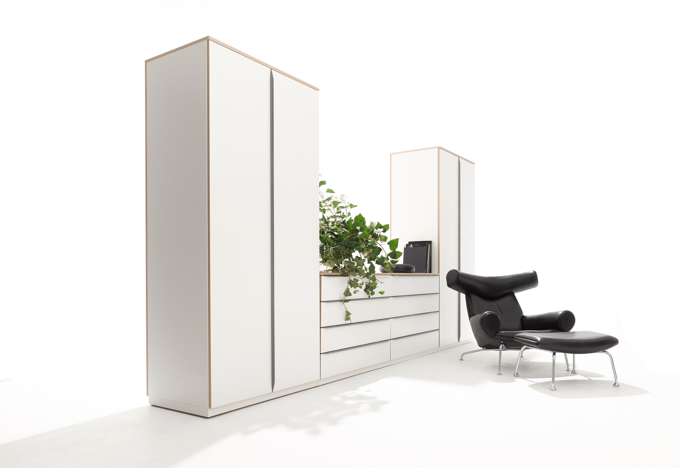 modular wardrobe by m ller m belwerkst tten stylepark. Black Bedroom Furniture Sets. Home Design Ideas