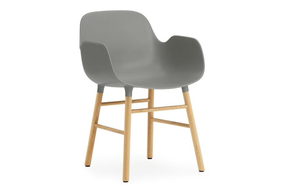 Form Armchair with wooden legs