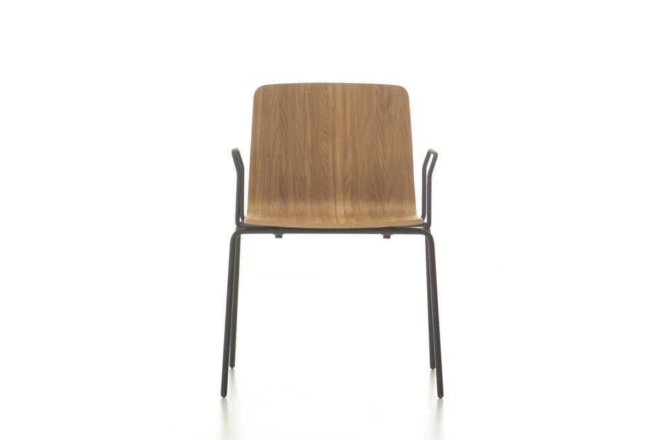 Eon 4 legged wooden with armrest