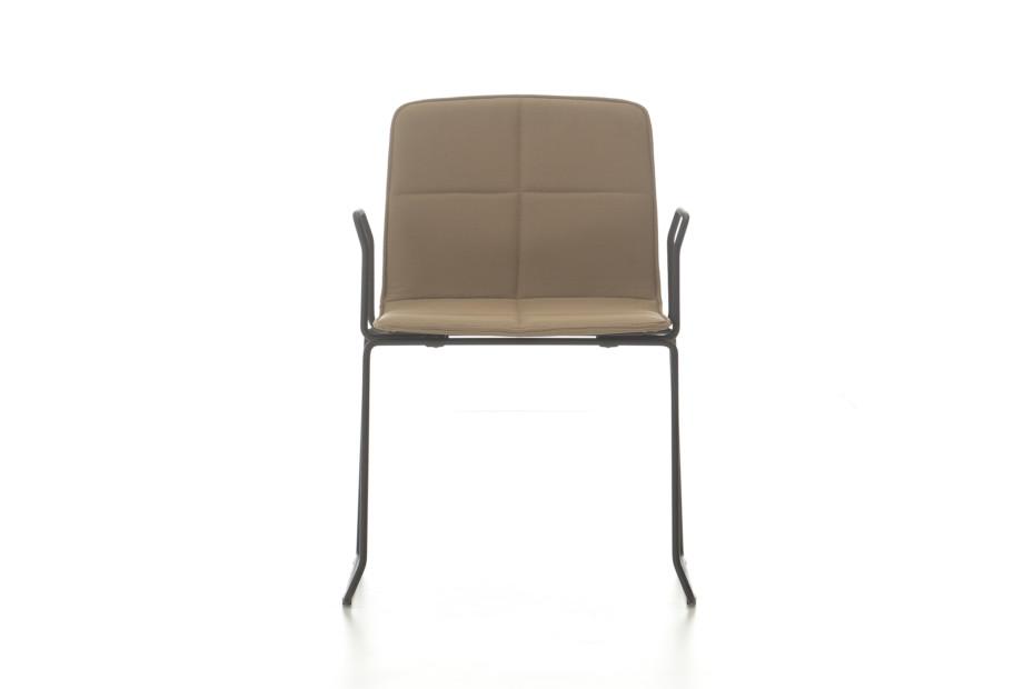 Eon sledge upholstered with armrest