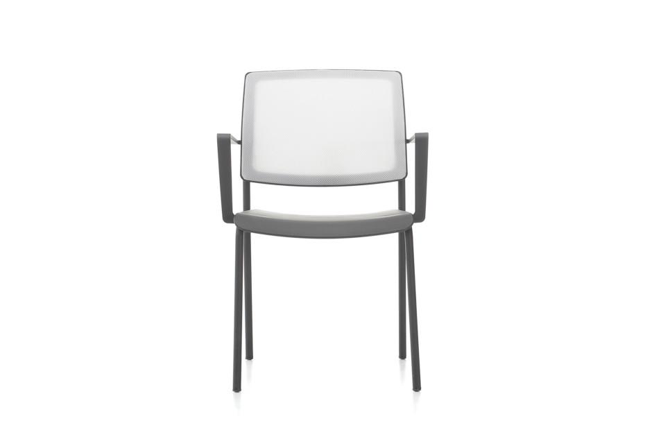 Trea cushionless chair with armrest