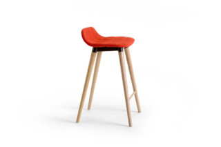 Bop bar stool wooden base  by  OFFECCT