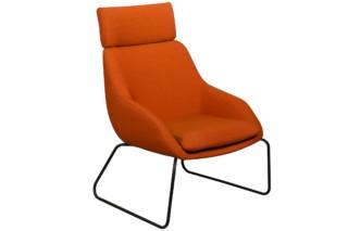 Blue armchair sled frame  by  Palau