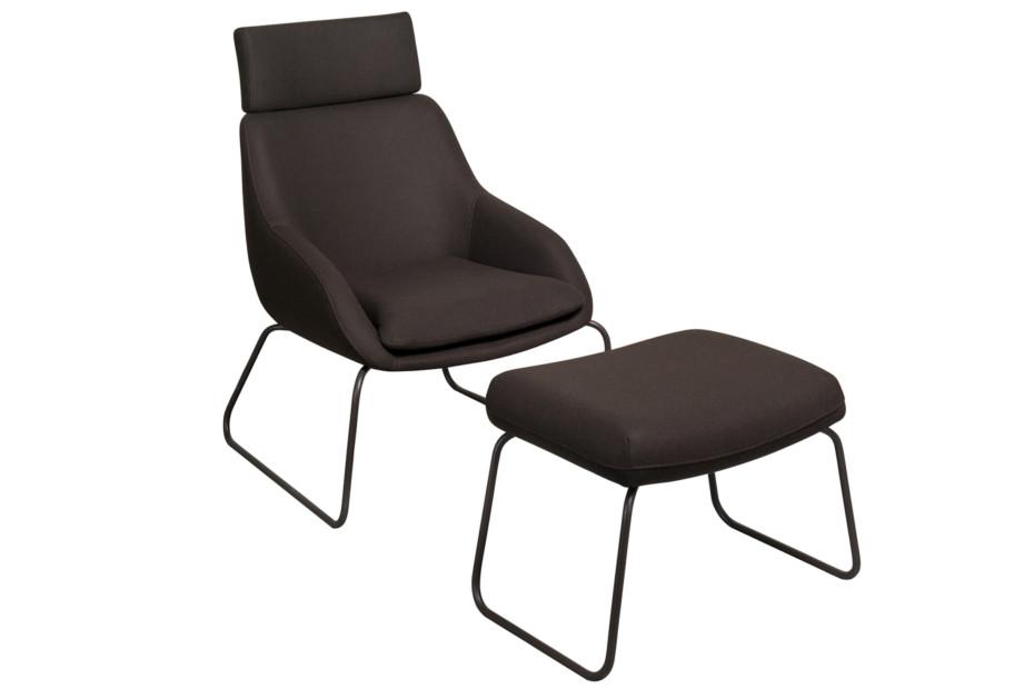 Blue armchair sled frame