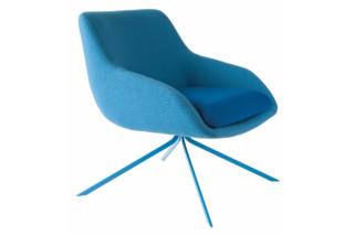 Blue armchair  by  Palau