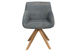 Blue chair with wooden frame  by  Palau