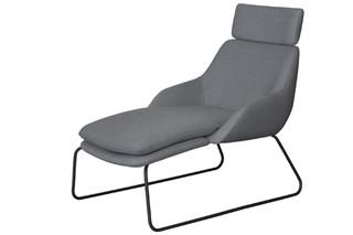 Blue chaise longue  by  Palau