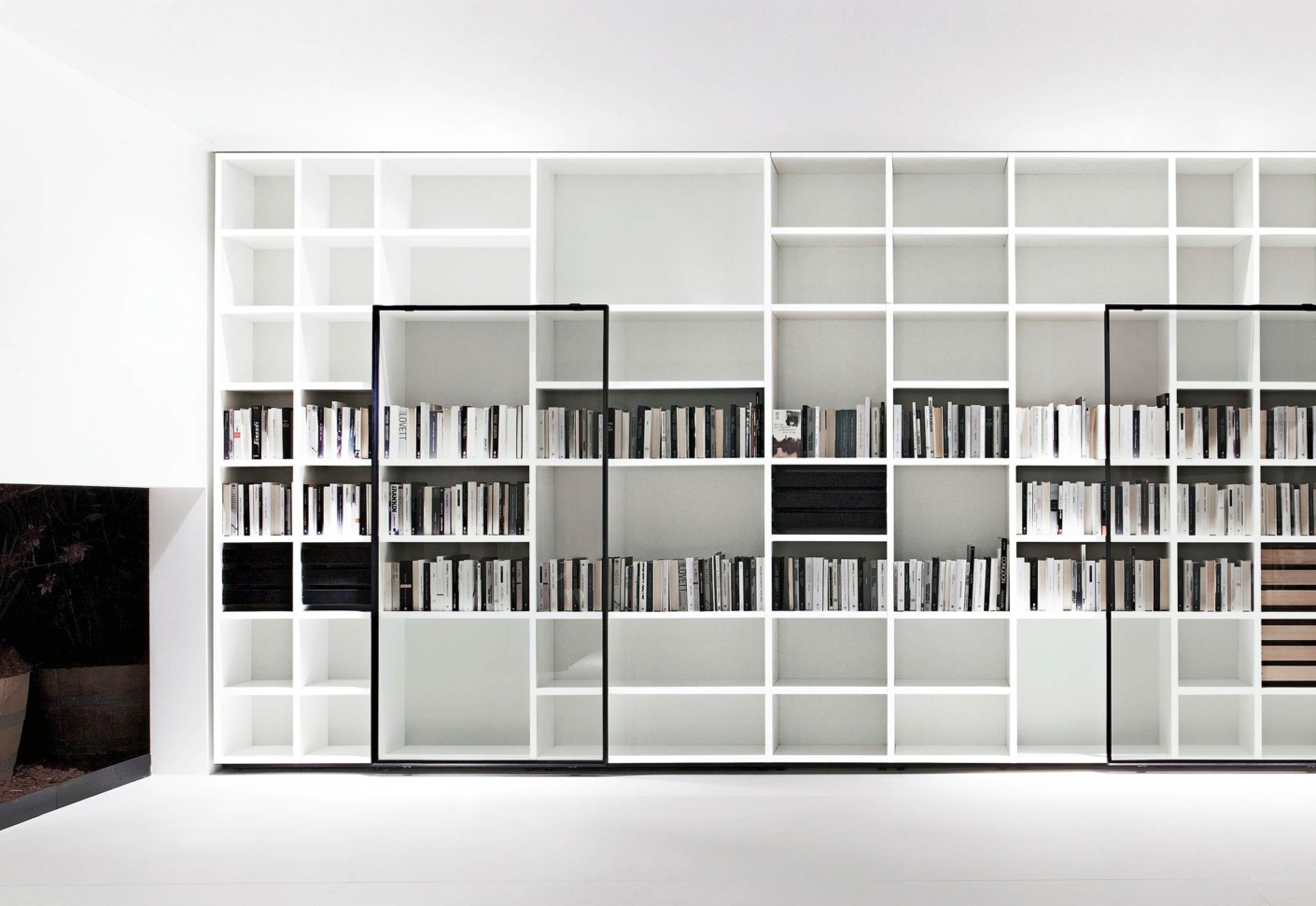 Office contract furniture storage shelving shelf systems - System Polifunzionale Tv Hi Fi Multifunctional Tv Hi
