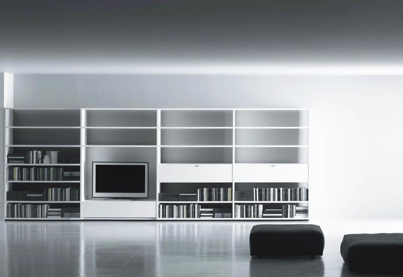 Office contract furniture storage shelving shelf systems - System Polifunzionale Tv Hi Fi Multifunctional Tv Hi