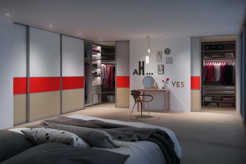 Gleittürsystem S3000 interior system Legno mit Beleuchtung