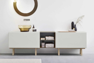 Esperanto cabinet with wooden frame  by  Rexa Design