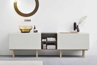 Esperanto cabinet with wooden frame  by  Rexa Design