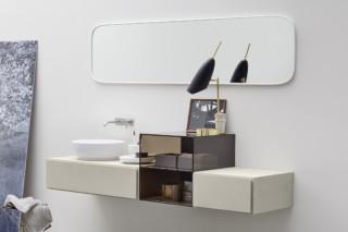 Esperanto console with glas element  by  Rexa Design