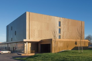 Perforated and embossed pattern as cladding, Archives de Reims  by  RMIG