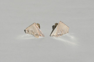 triangle FRINGE earclips  by  Saskia Diez