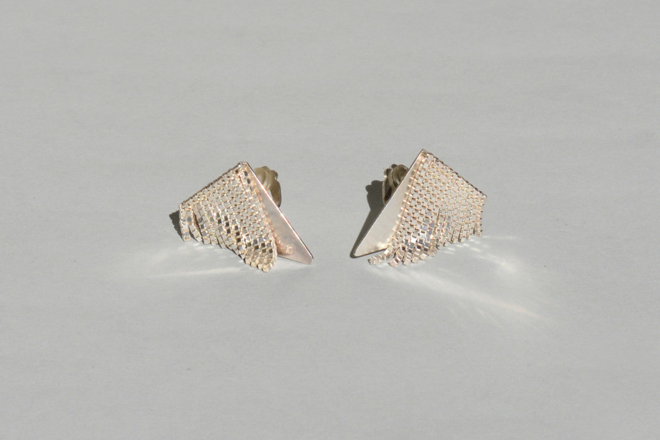 triangle FRINGE earclips