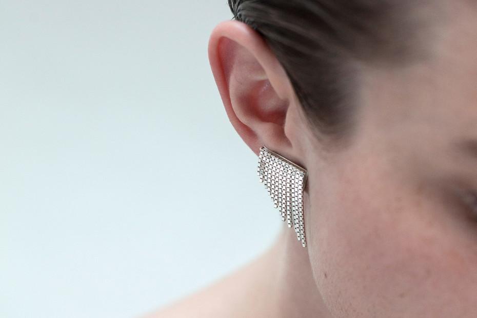 triangle FRINGE earclips