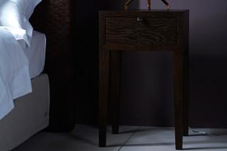 Oskar bedside table  by  Schramm