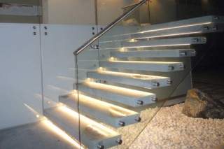 Cantilevered stairs concrete  by  Siller