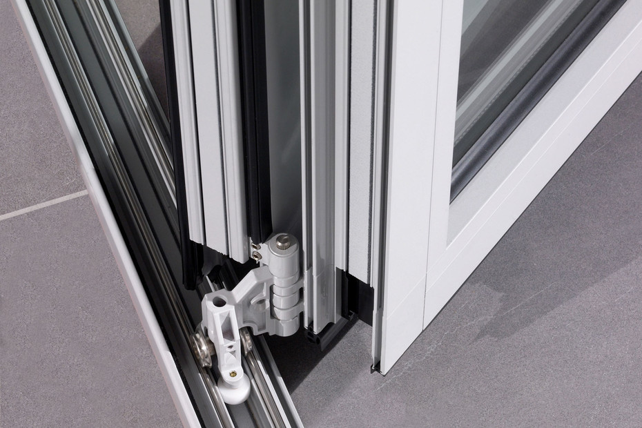 Glas-Faltwand Ecoline als Balkonverglasung