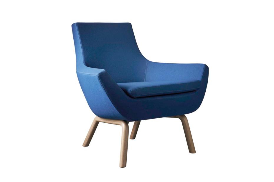 Happy Sessel mit Holzbeinen