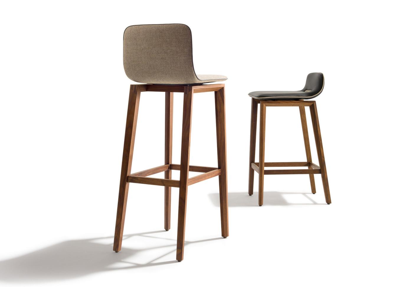 ark barstool with high backrest by TEAM 7 | STYLEPARK