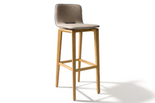 ark barstool with high backrest  by  TEAM 7