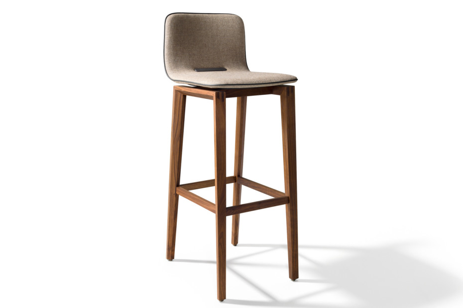 ark barstool with high backrest