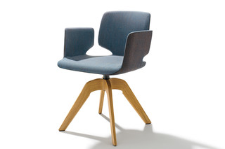 aye swivel chair with armrests  by  TEAM 7