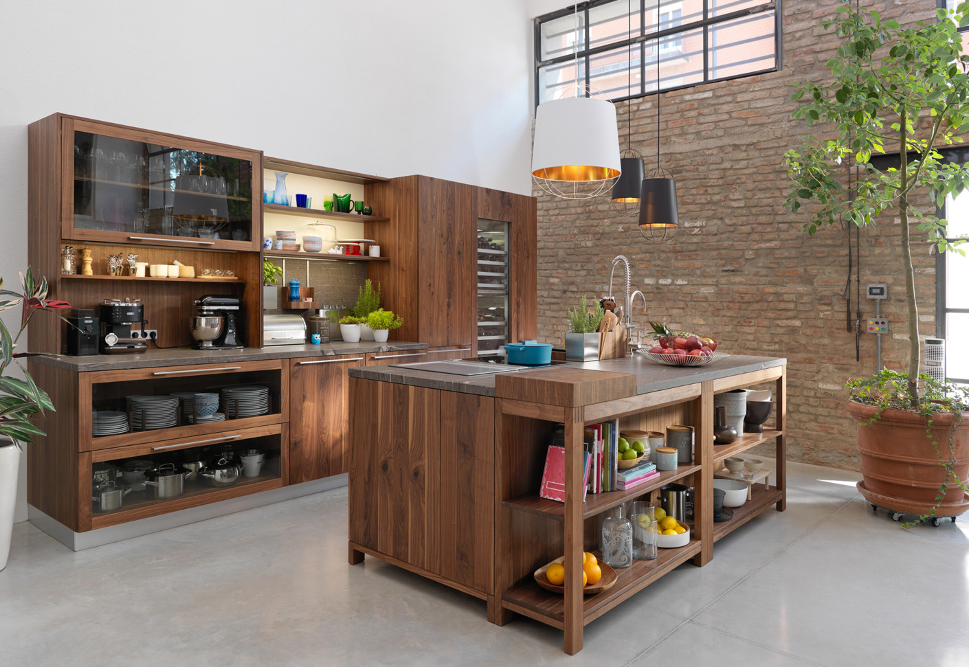 loft kitchen by team 7 stylepark