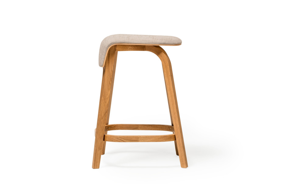 Leaf bar stool upholstered